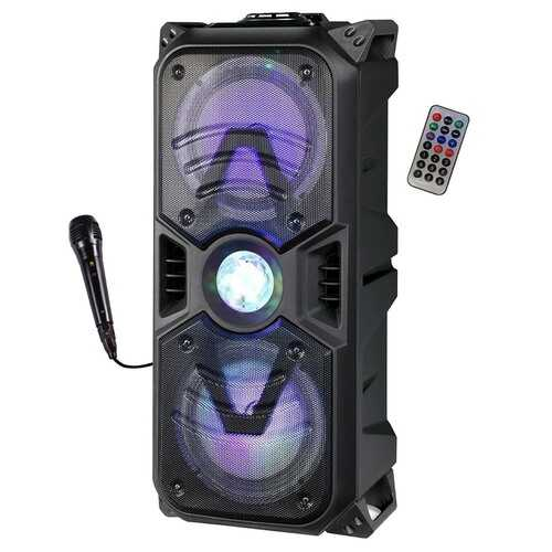 """Max Power Rechargeable Dual 6.5"""" Bluetooth Speaker - Black Grill"""