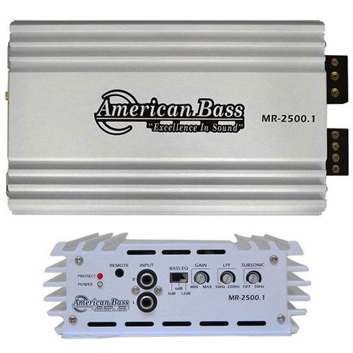 American Bass Marine Amp 2500 Watts Max D Class