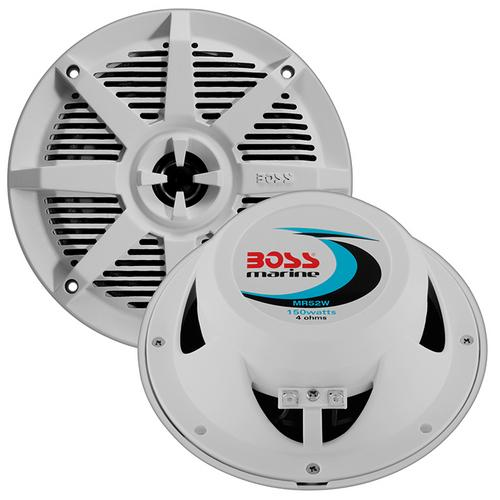 "Boss 5.25"" 2-Way Coaxial Marine Speaker 150W White"