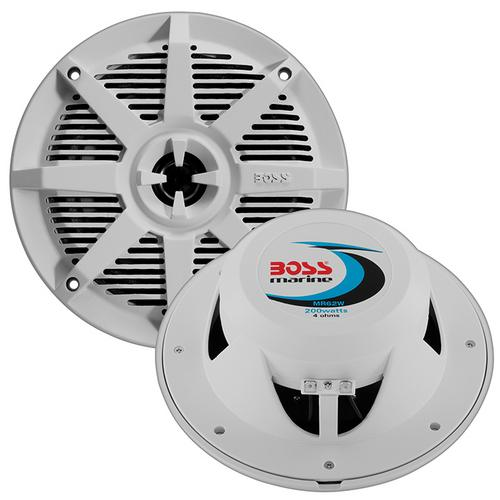 "Boss 6.5"" 2-Way Coaxial Marine Speaker 200W White"