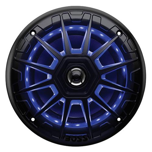 "Boss 6.5"" 2-Way Marine Speaker with RGB Lights(Pair) 200W Black"