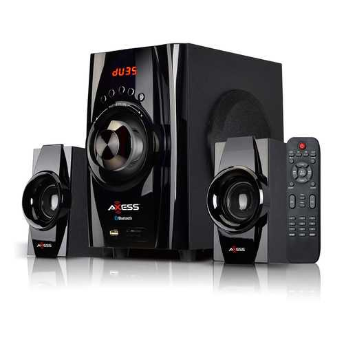 AXESS Bluetooth Mini System 2.1-Channel Home Theater Speaker System Black