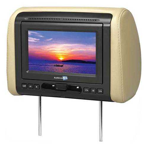 "Audiovox 7"" Headrest Monitor(sold each) with DVD/HDMI output 3 Covers"