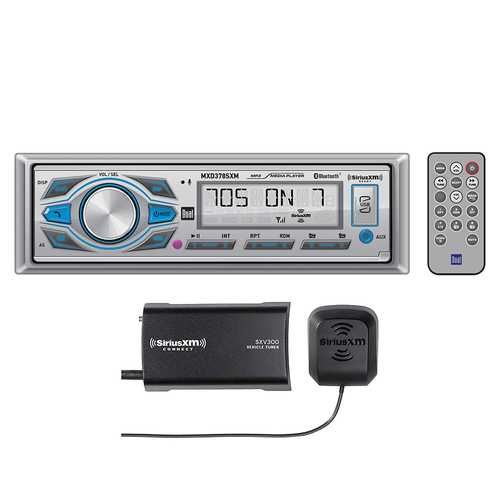 Dual Mechless Detachable Receiver Tuner Bluetooth SiriusXM USB and MP3