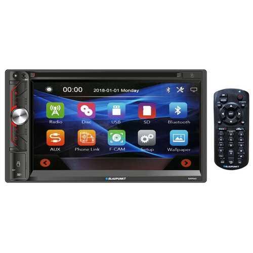 """Blaupunkt Double Din 6.9"""" Touch Screen Bluetooth DVD Mirror Link"""