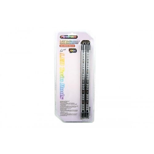 "Pipedream 9"" LED Twin Rods Multi Color built in memory chip"