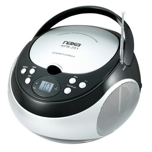 Naxa Portable CD Player with AM/FM Black