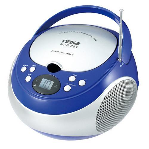 Naxa Portable CD Player with AM/FM Blue