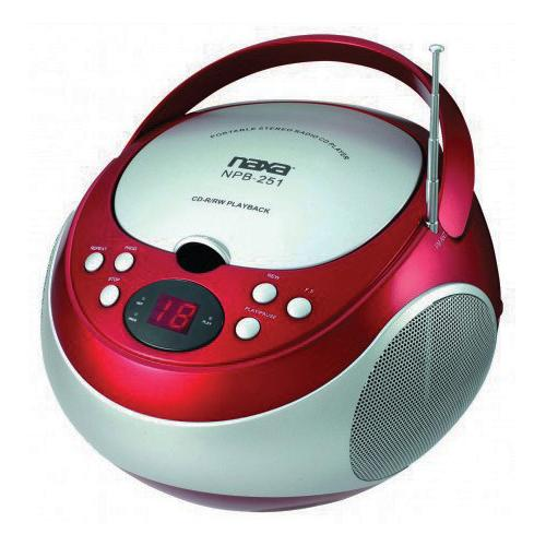 Naxa Portable CD Player with AM/FM Red(NPB251RE)
