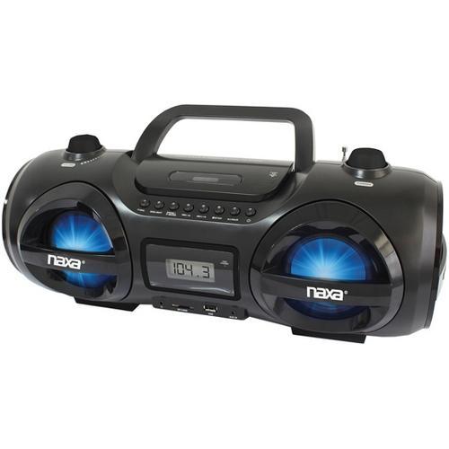 Naxa CD/MP3 Party Boombox with USB/SD