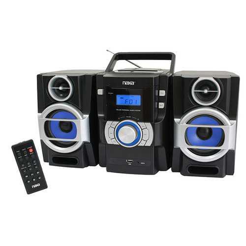 Naxa Portable MP3/CD Player with PLL FM stereo radio & USB input