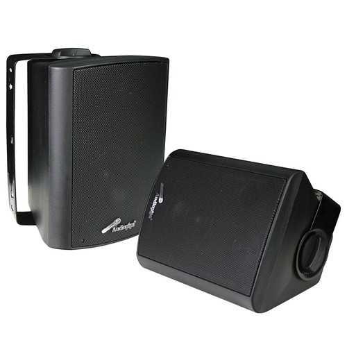 "Audiopipe 4"" Indoor/Outdoor Weatherproof Loudspeakers-Black-Pair"