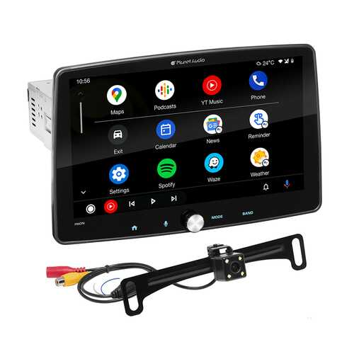 """Planet Audio Single Din 10.1"""" Apple Car Play Android Auto Bluetooth Back up Camera"""