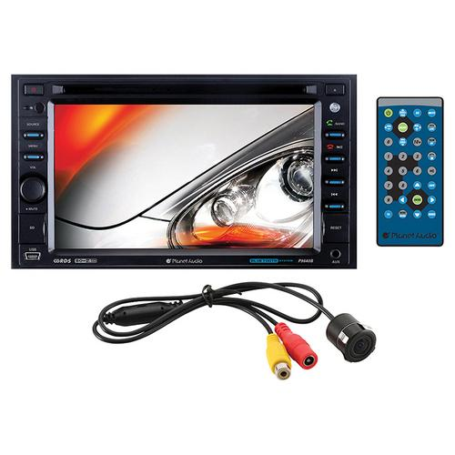 "Planet 6.2"" DDin Receiver Bluetooth Touchscreen with rear view camera"
