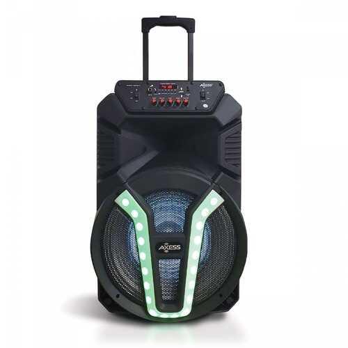 "Axess 15"" Mega Blast Bluetooth Portable Party Speaker LED Lights"