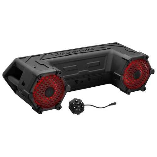 "Planet Audio Off Road ATV Sound System 6.5"" Marine Speakers Bluetooth RGB LED Bar"