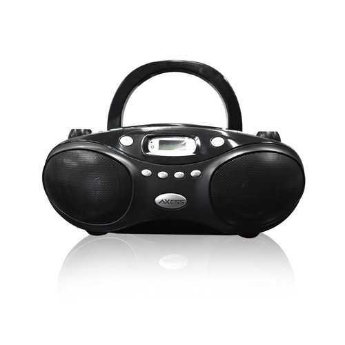 Axess Portable Thunder Blast CD Bluetooth Boombox Black