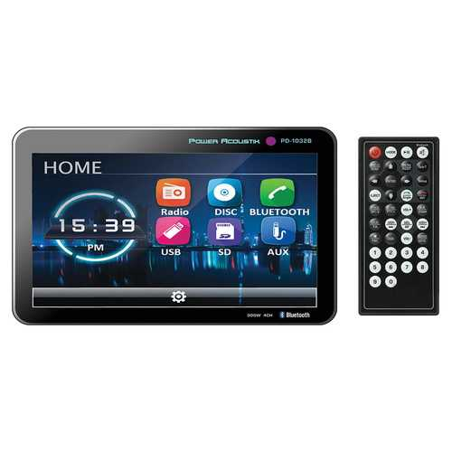 """Power Acoustik 10.3"""" DVD/CD/MP3 Double Din Receiver with Bluetooth & Detachable Faceplate"""