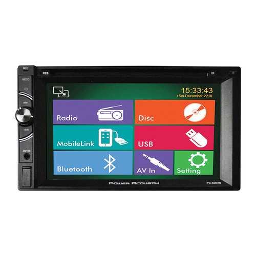 "Power Acoustik 6.2"" Double Din DVD Receiver Bluetooth & USB"