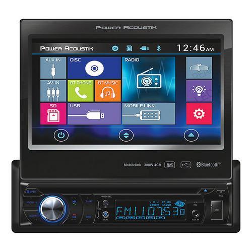 """Power Acoustik S. Din 7"""" Flip out AM/FM/CD/DVD/USB/BT Remote"""