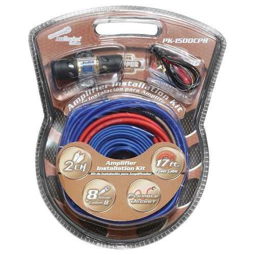 Audiopipe 8GA Copper Amplifier Wiring Kit 1500 Watt Systems