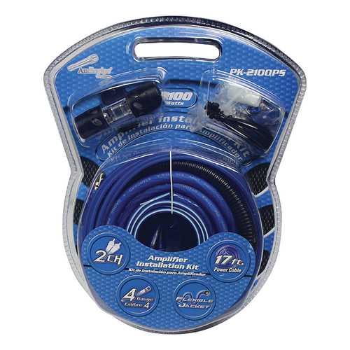 Audiopipe 4 Gauge Fliexible Cables Amp Wiring Kit 2100W