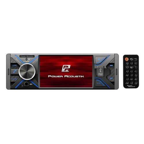 """Power Acoustik 4.3"""" Single DIN MECHLESS Fixed Face Receiver with Bluetooth USB/SD Inputs and Remote"""