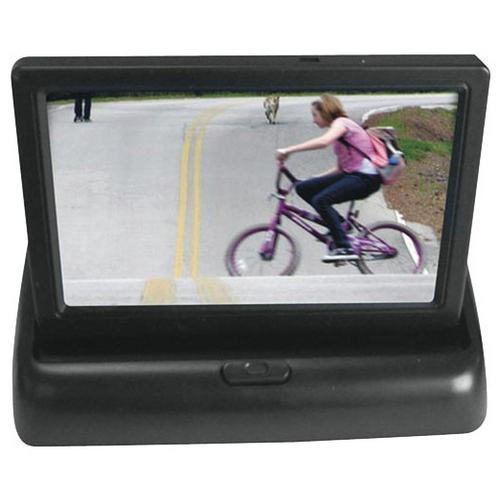 "Pyle 4.3"" Monitor w/ Aluminum Black License Plate Camera"