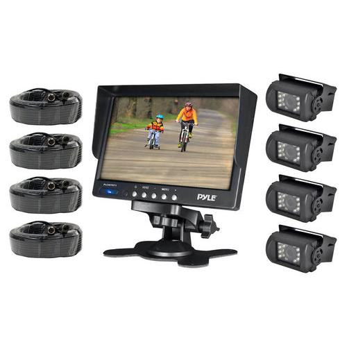 """Pyle 7"""" Monitor with 4 camera set"""