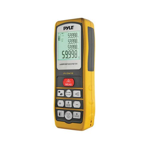 Pyle Handheld Laser Distance Meter W/ Backlit LCD Display Direct / Indirect Volume Area Measuring