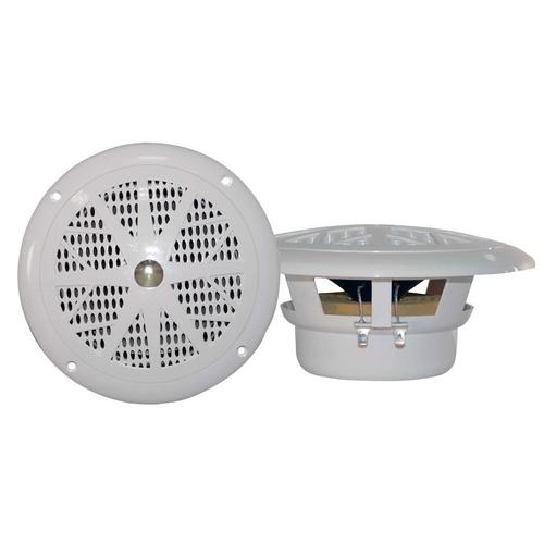 "Pyle 4"" pair marine white speakers"