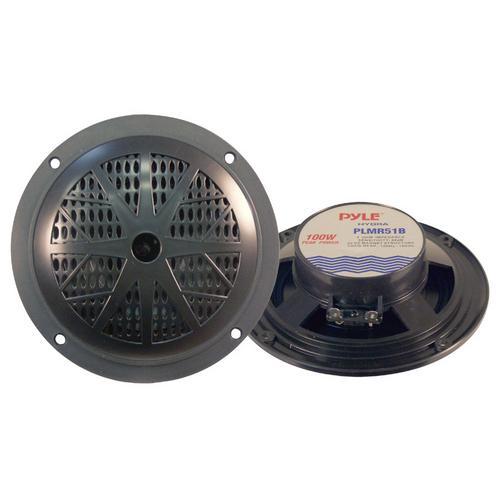 """Pyle 5-1/4"""" Black waterproof marine speaker"""