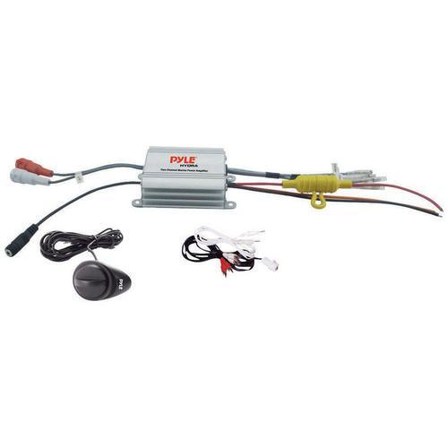 Pyle 2CH Waterproof MP3/iPod marine Power Amplifier -Silver fioinish