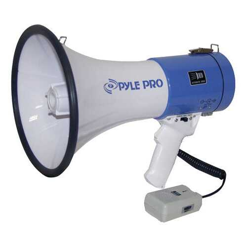 Pyle 50W Mini megaphone with Siren
