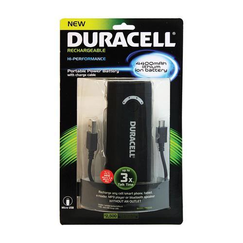 Duracell 4400 MAH Powerbank (Black)