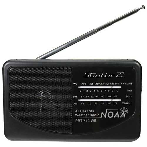 Studio Z AM/FM/Weatherband 3 Band World Radio Receiver