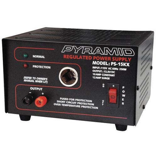 POWER SUPPLY PYRAMID 12 AMP W/CIGAR PLUG