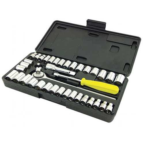 Great Neck Saw PSO40 Drive Socket Set 1/4-Inch and 3/8-Inch Drive 40-Piece