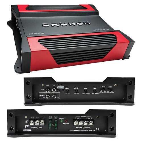 Crunch Powerzone 2 X 375 @ 4 Ohms 2 X 750 @ 2 Ohms 1 X 1500 Watts @ 4 Ohms Bridged