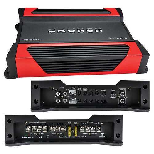 Crunch Powerzone 4 x 190 @ 4 Ohms 4 x 375 @ 2 Ohms 2 x 750 Watts @ 4 Ohms Bridged