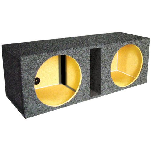 "*BASS12* EMPTY WOOFER BOX QPOWER; (2)12"" SLOT PORTED"