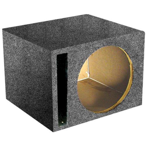 "*SBASS12* EMPTY WOOFER BOX QPOWER; (1)12"" SLOT PORTED"