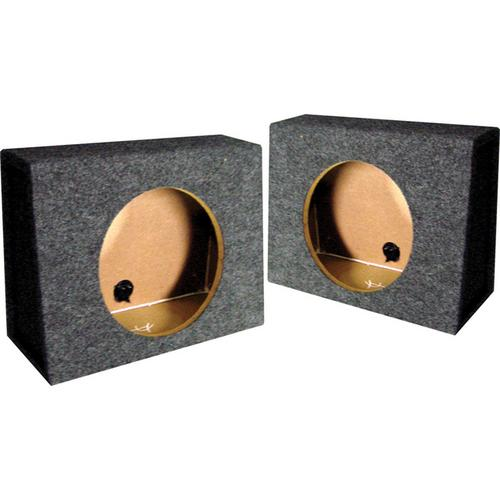 "*TW10S* EMPTY SPLIT WOOFER BOX; 10"" ANGLE; QPOWER Mounts behind seat"