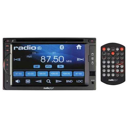 "Audiopipe 6.2"" DVD/CD Fixed Panel Receiver bluetooth AM/FM USB/SD Remote"