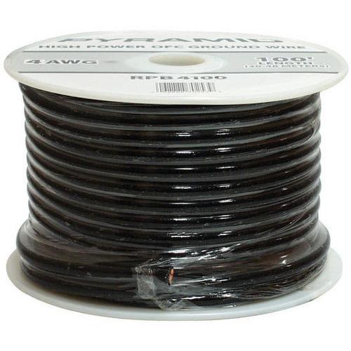Pyramid 8 Gauge Black Ground Wire 100FT Spool