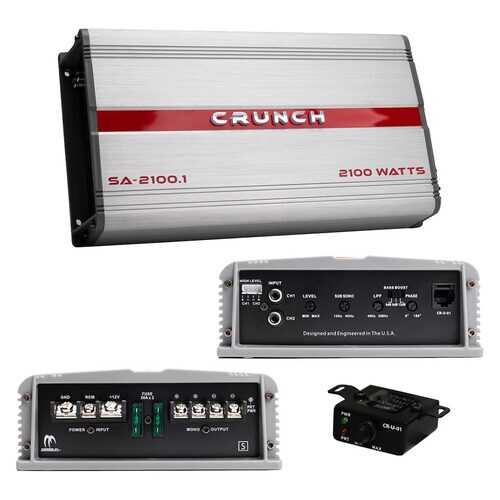 Crunch Smash Amplifier Mono 2100 Watts