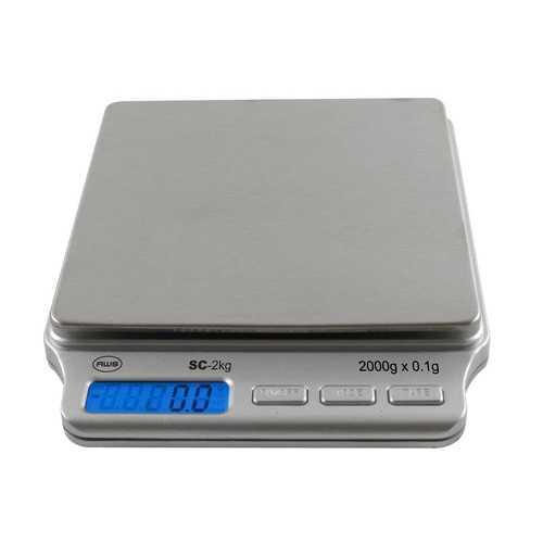 AWS SC-2KGA Digital Pocket Scale 2000 Gram x 0.1 Gram AC Adapter American Weigh Scales