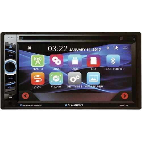 """Blaupunkt D.Din 6.2"""" Touchscreen AM/FM/CD/DVD/BT/USB"""
