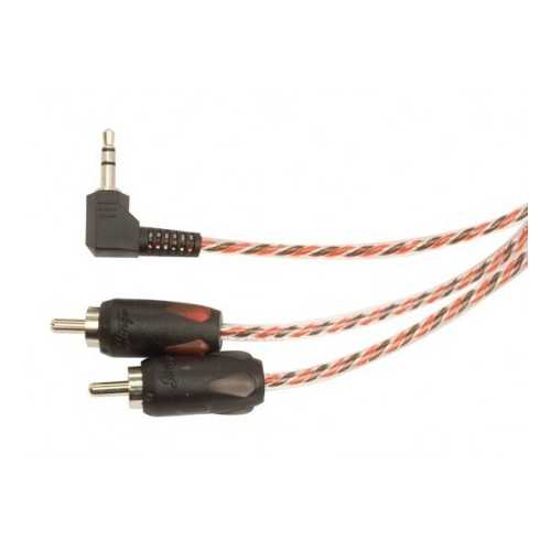 STINGER 4000 SERIES 3.5MM TO RCA WITH RIGHT ANGLE 6FT