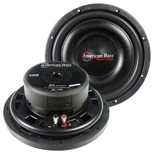 "American Bass 10"" Slim Mount Wooofer 500 watts max 4 Ohm SVC"